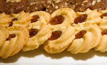 Spritz Cookies w/Jam