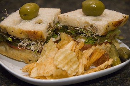 A damn good sandwich